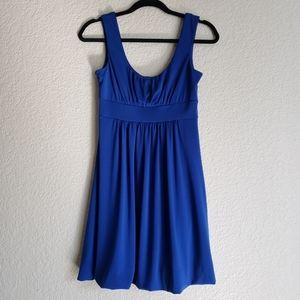 Royal Blue Sleeves A-line Dress